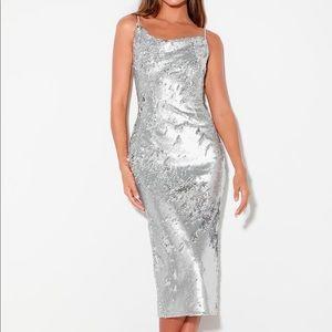 No Signs Silver Dress